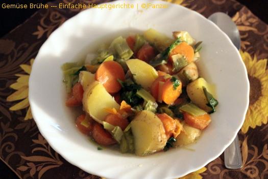 Gemüse Brühe — Einfache Hauptgerichte