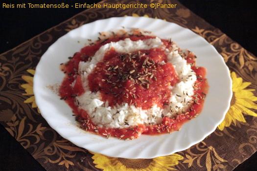 Reis mit Tomatensoße – Einfache Hauptgerichte