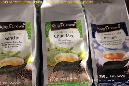 Grün-Schwarz Teemischung — Einfache Getränke