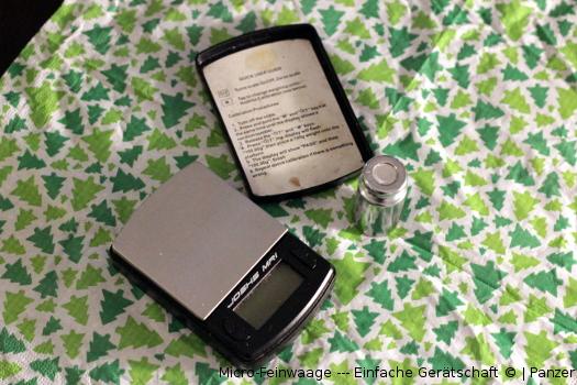 Micro-Feinwaage --- Einfache Gerätschaft
