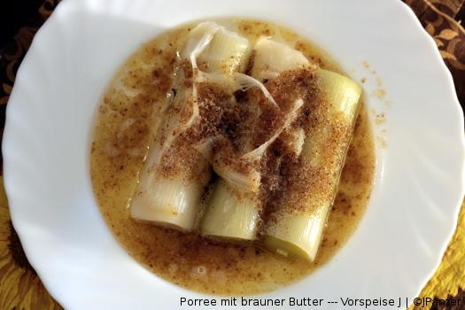 Porree mit brauner Butter — Vorspeise