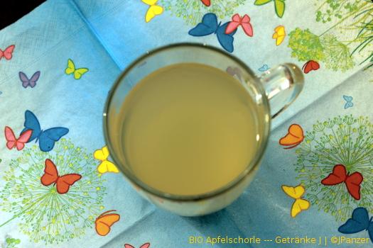 BIO Apfelschorle schmeckt gut — Getränke