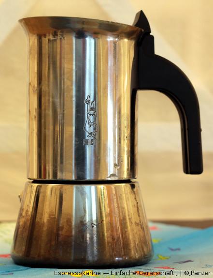 Espressokanne — Einfache Gerätschaft