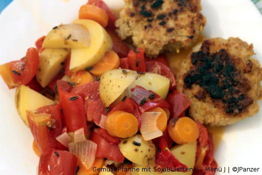 GemüsePfanne und SojaBuletten — Pfannengericht