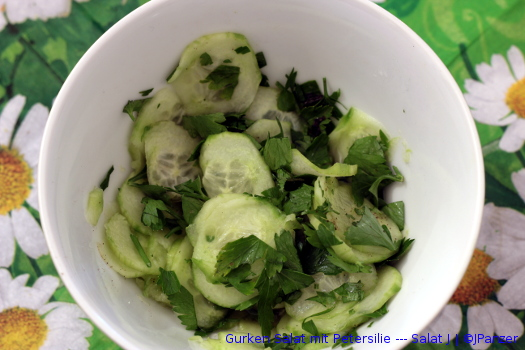 Gurken Salat mit Petersilie — Salat