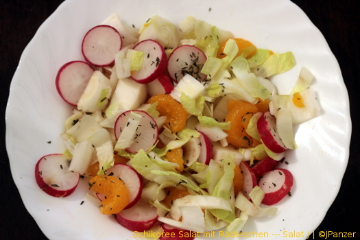 Schikoree Salat mit Radieschen — Salat