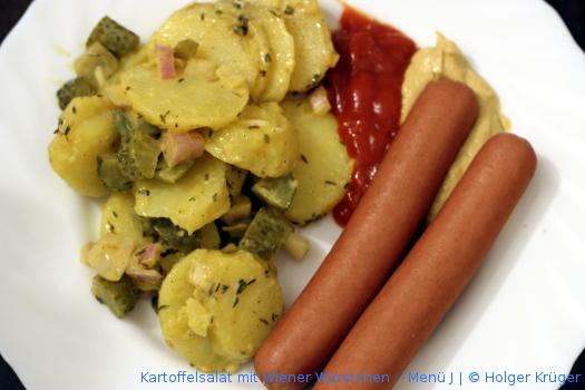 Kartoffelsalat mit Wiener Würstchen  – Menü