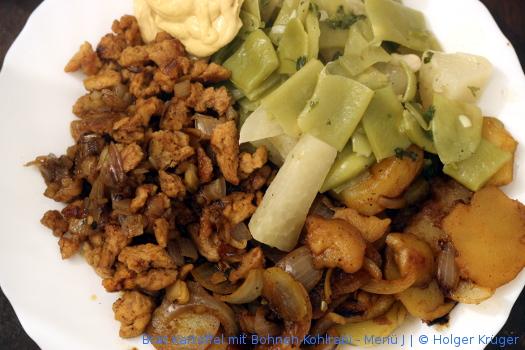 Brat Kartoffel mit Bohnen-Kohlrabi – Menü