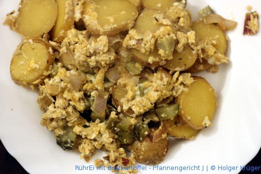 RührEi mit Bratkartoffel – Pfannengericht