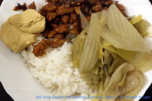 BIO Soja Fleisch mit Fenchel Gemüse – Menü