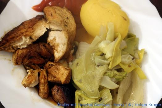 Broiler mit Fenchel Gemüse – Menü