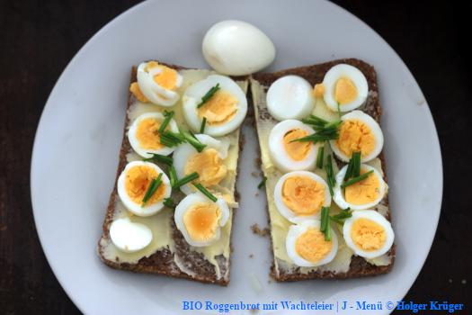 BIO Roggenbrot mit Wachteleier | J – Menü