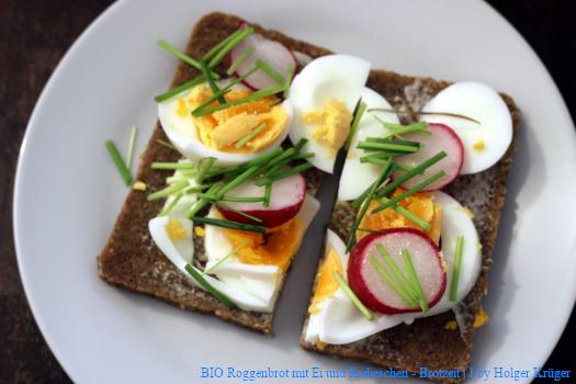 BIO Roggenbrot mit Ei und Radieschen – Brotzeit | J