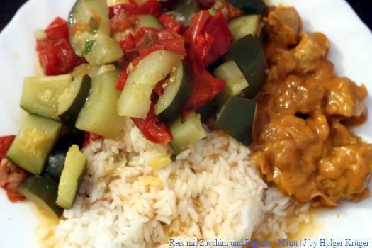 Reis mit Zucchini und Paprika – Menü | J