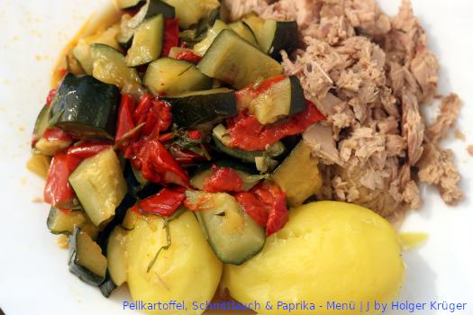 Pellkartoffel, Schnittlauch & Paprika – Menü | J