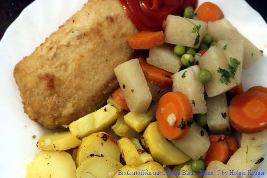 Bratkartoffeln mit Cordon Bleu – Menü | J