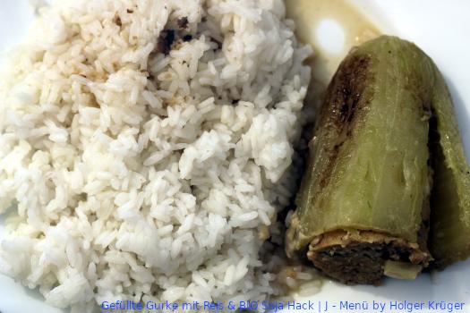 Gefüllte Gurke mit Reis & BIO Soja Hack | J – Menü