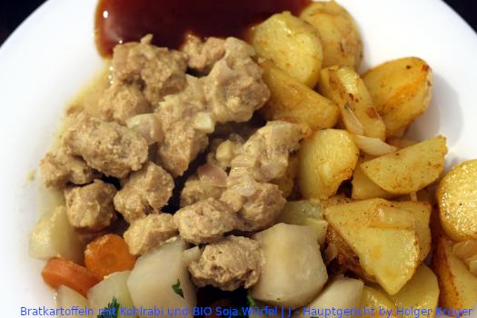 Bratkartoffeln mit Kohlrabi und BIO Soja Würfel | J